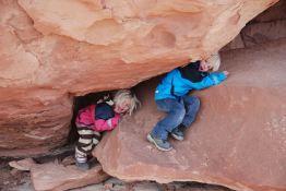 Liva og TIuri i Canyonlands NP.