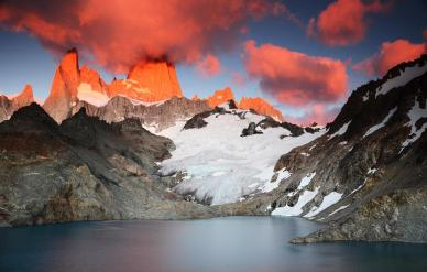 Fitz Roy ved solopgang