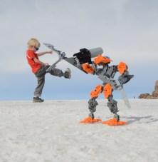 Saltsø i det sydvestlige hjørne af Bolivia 'Salar de Uyuni'
