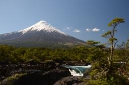 Landskabet i den sydlige del af Chile