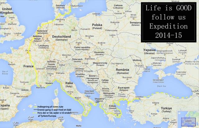 Life is good follow us expedition, kajak, børn, familie