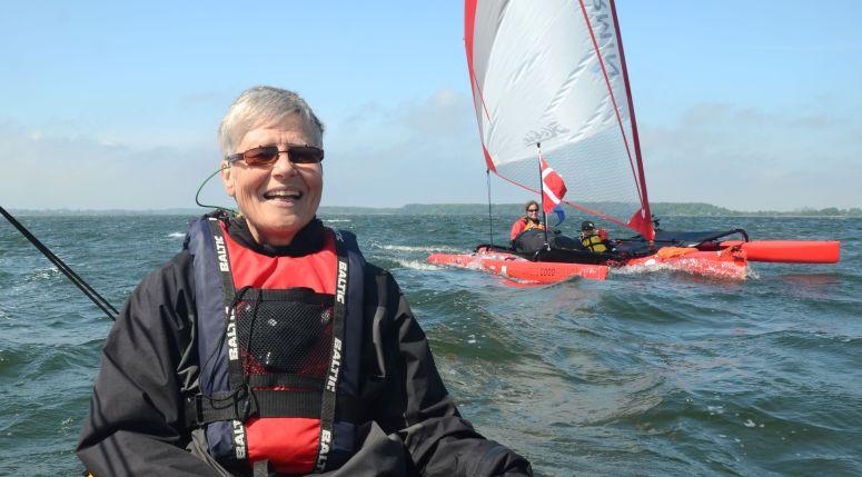 Susan som var med fra Guldborg til Nykøbing, hyggeligt / Susan who was with us from Guldborg to Nykøbing, nice!