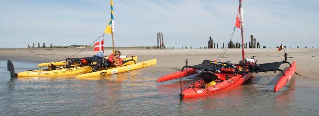 Mange landinger på strande er hård for bunden / Lots of landing on beaches is hard on the bottoms.