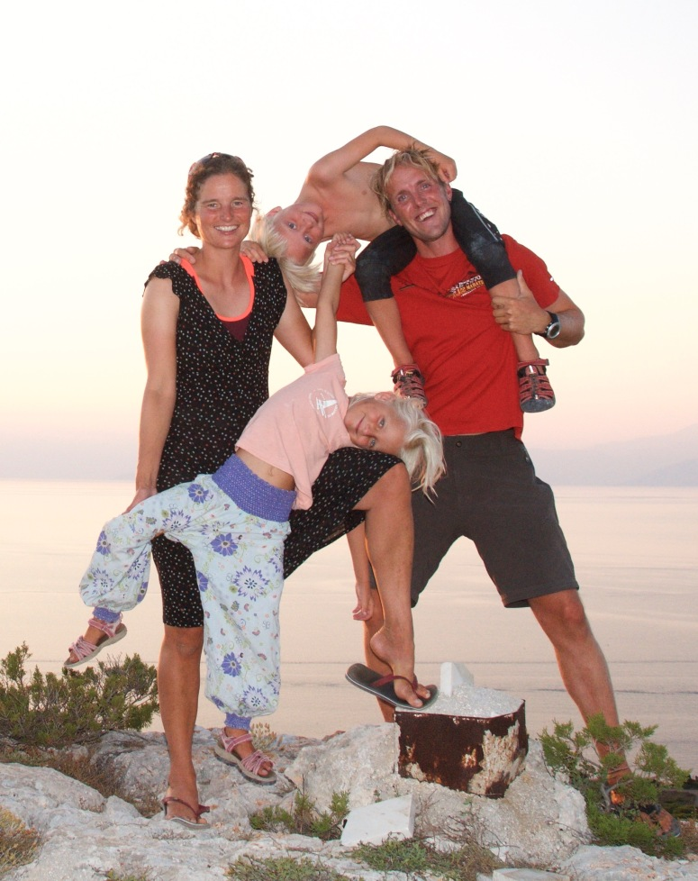 Family picture in Greece